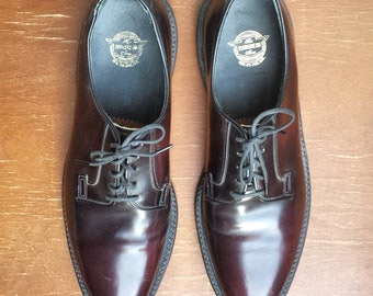 1980's Florsheim plain toe Derby shoe  - Men's size 10 1/2D - dark burgundy