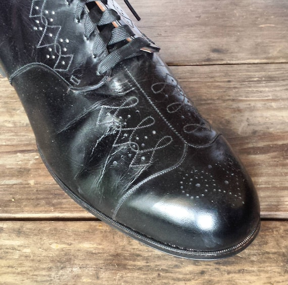 1930's Shoes B never as worn size all Wilbur black oxford pumps Coon Women's 12 1930's new leather condition xSE8qPZ4xw