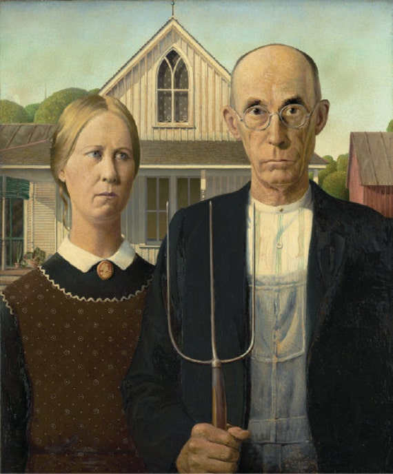 MINT CONDITION PAINTING BY GRANT WOOD POSTAGE STAMP AMERICAN GOTHIC U.S