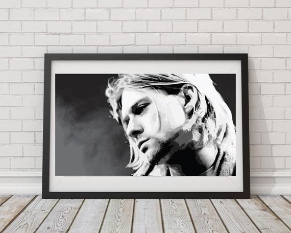 LARGE SIZE Kurt Cobain MTV Uplugged Print / Kurt Cobain Poster