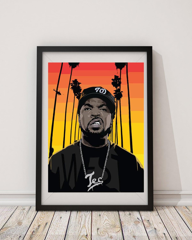 LARGE Ice Cube Poster / Ice Cube Print / Ice Cube Art / | Etsy