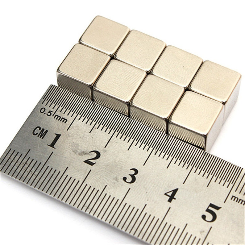 N50 Super Strong 10mm x 10mm x 3mm Neodymium Block Magnets  DIY MRO craft fridge