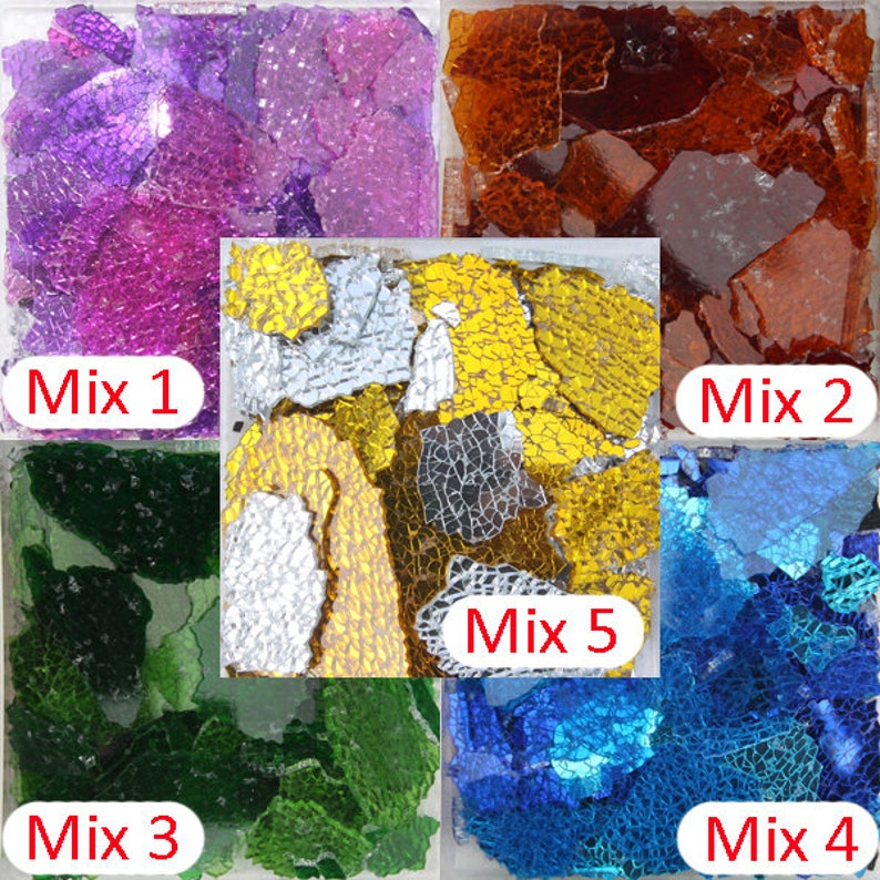 150g//set Square Glass Mosaics Tiles Glitter Crystal Arts for DIY Crafts Supplies