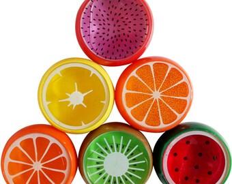 6pcs Fruity Slime Handgum DIY Emoji Mud Non-toxic/magnetic Fruit slime Silly Putty Ferrofluid Polyer Spoof Lizunov Baby Toys