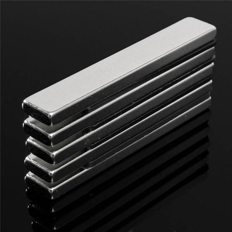 4 x Premium Rare Earth Strong 60mm x 10mm x 4mm Neodymium Block Magnets
