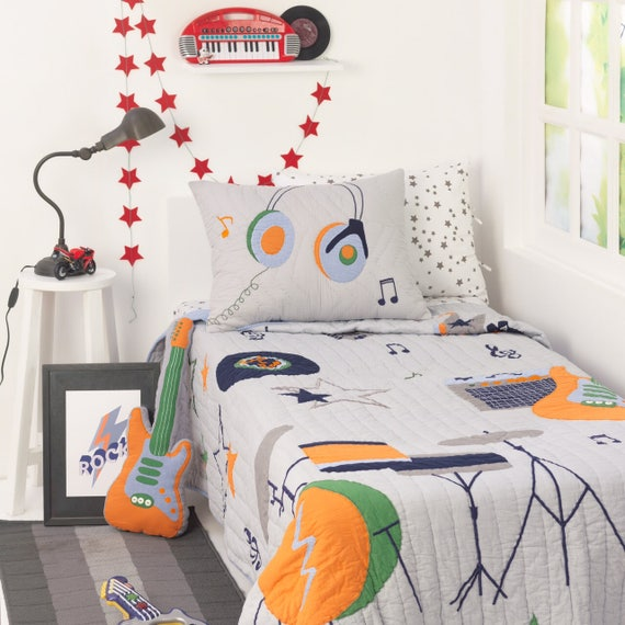 Rockstar Kidsu0027 Bedding Set Kid Room Decor Rock Nu0027 | Etsy