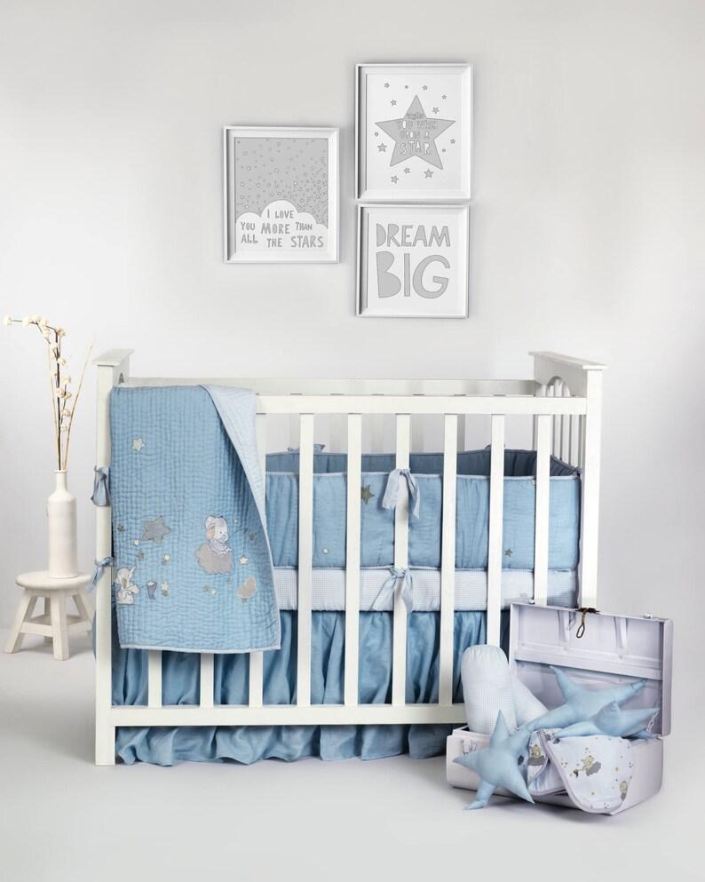 Sternenklare Nacht Leinen Luxus Kollektion Baby Bettwäsche Set Etsy