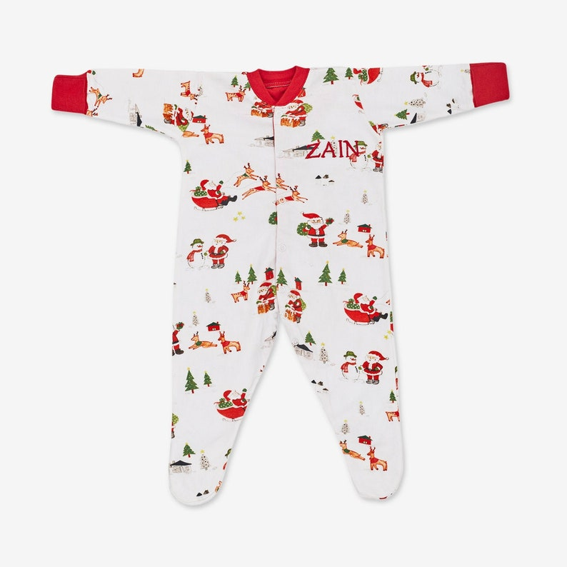 Dear Santa Luxury Cotton Clothing for Baby Baby Clothing Baby Christmas Romper Onesie Gift Set Free Personalization
