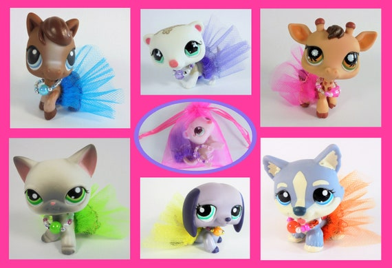3pcs Drink Straw Cup Girl Toy Littlest Pet Shop LPS Accessories Sent At Random