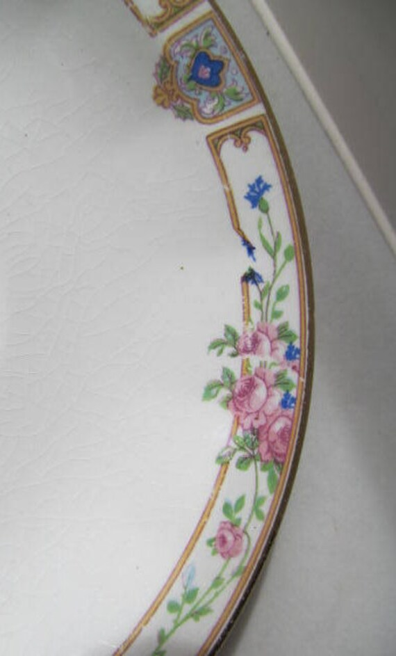 & Edwin Knowles Plaza Pattern Dessert / Pie Plate 7-1/4