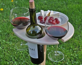 outdoor wine table folding wine table wine lover gift personalized free shipping usa