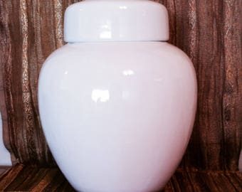 Ceramic Rose Jar-White Collection