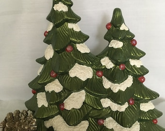 "10"" Ceramic Double Christmas Tree"