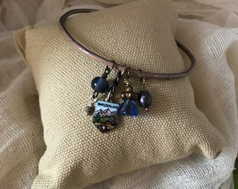 Switzerland Bracelet, Beaded Bracelet, Charm Bracelet, Bangle, Stackable Bracelets