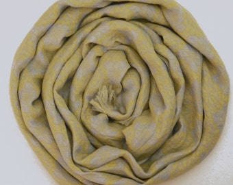 Yellow Linen Scarf , Womans scarves, Mens Scarf / Warm Winter Womans Scarves / Linen Scarf For Him / Scarves For Men