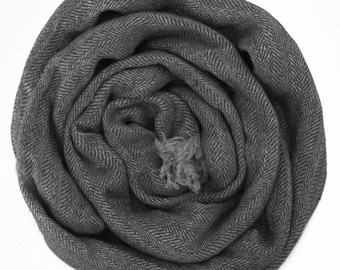 Grey Scarf - Made From Natural Linen, Womans scarves, Mens Scarf / Warm Winter Womans Scarves / Linen Scarf For Him / Scarves For Men /