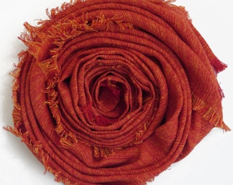 Red Linen Scarf - Womans scarves, Mens Scarf / Warm Winter Womans Scarves / Linen Scarf For Him / Scarves For Men