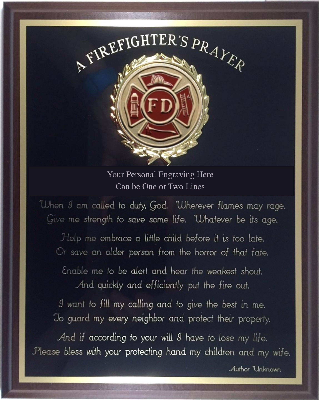 Personalized Engraved ////  8x10 ////  EMT //// Paramedic //// Prayer Plaque