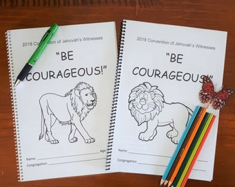 2SET (3-5 & 6-13yo) Regional Convention 2018 Be Courageous JW Notebook for kids
