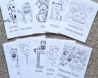 a JW Greeting Cards for kids to also color