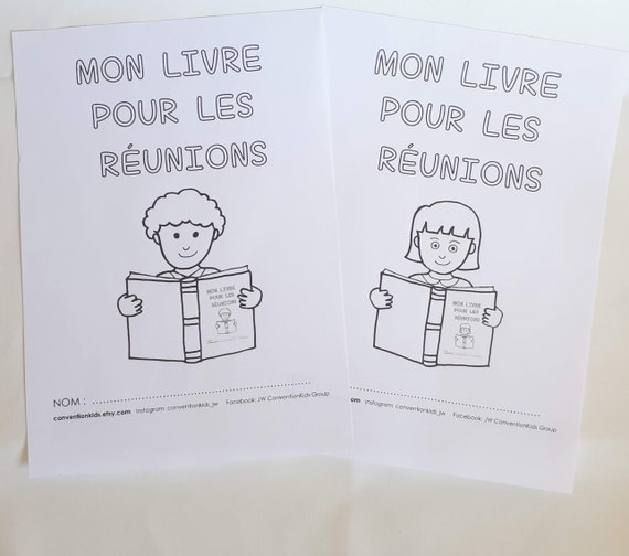French My Own Meeting Book For Jw Kids 2 6yo Francais Mon Propre Livre De Reunion