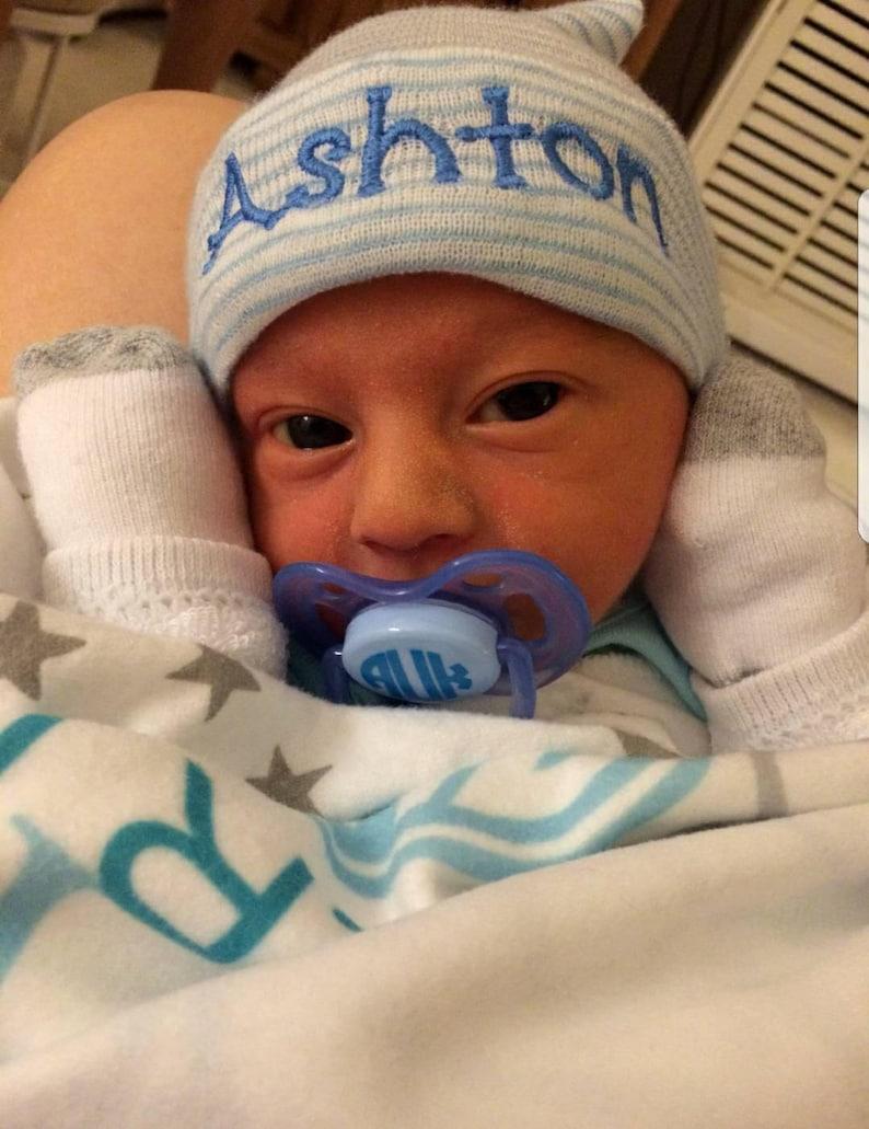 8bb760b7b6a60 Newborn Boy Personalized Hospital Hat boy hospital hat baby