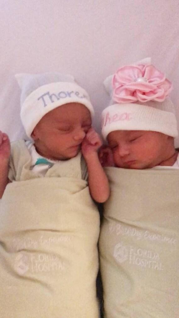 Twin hospital hats newborn hats newborn beanies baby twins  dfe9deb320cd