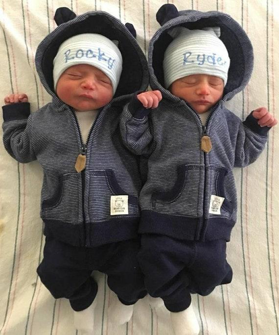 Twin boy hospital hats baby boy hats newborn beanies baby  992692cb6b05
