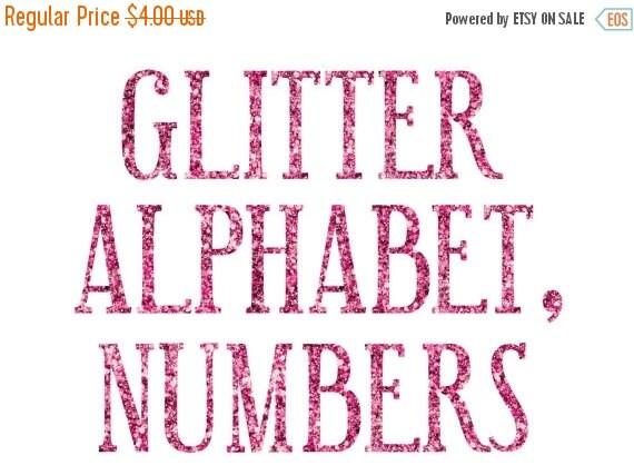80 % bis Neujahr Rosa Glitzer Alphabet ClipArts Pink und | Etsy