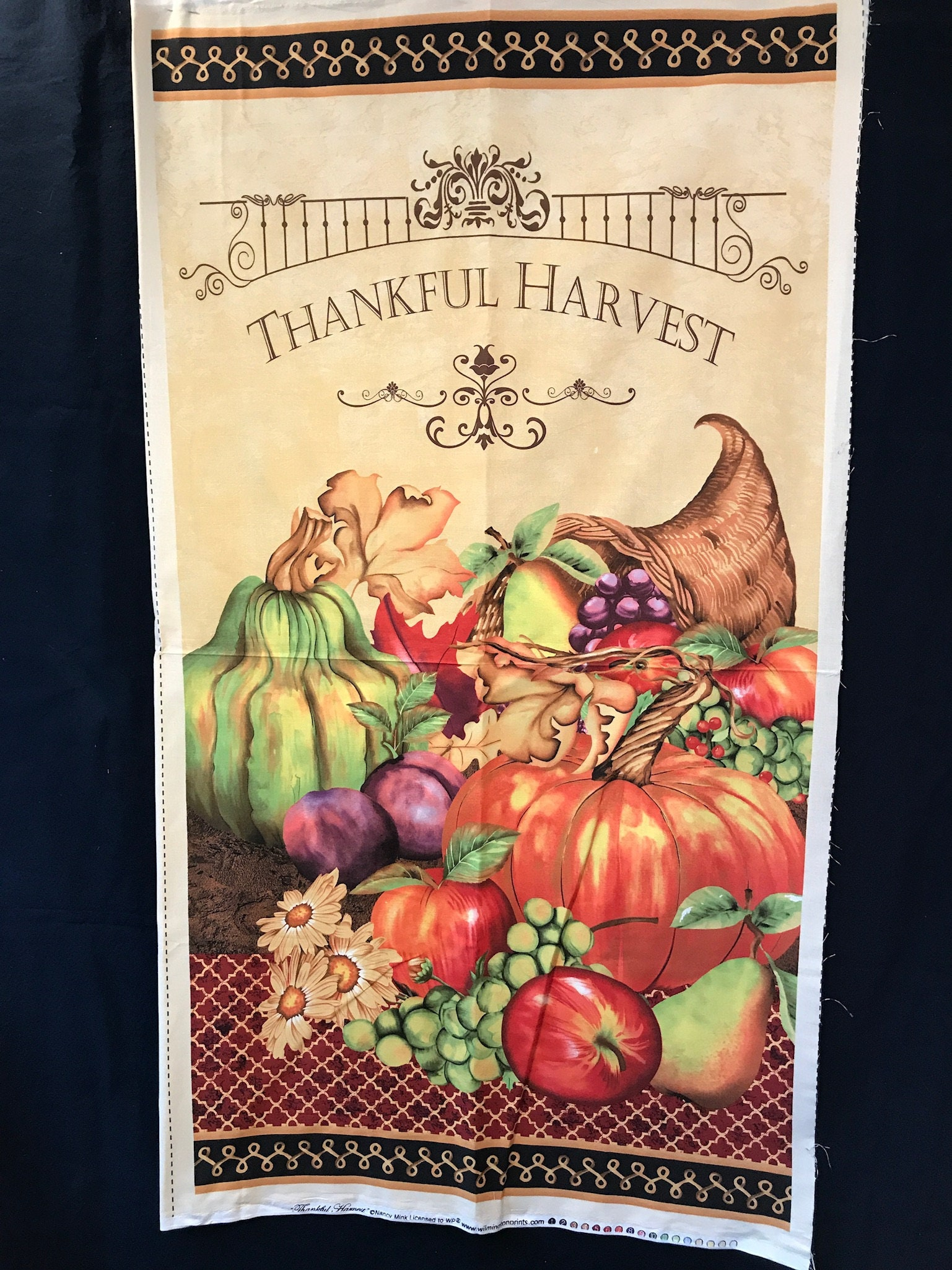 Thanksgiving Harvest Quilted Wall-hanging, Thanksgiving banner, Fall ...