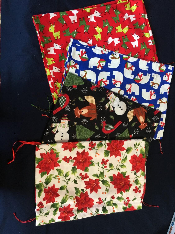 Christmas Gift Bags Australia.Extra Large Re Usable Fabric Drawstring Christmas Giftbags