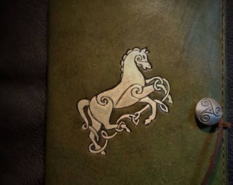 Epona The Great Mare Celtic Leather Horse Journal
