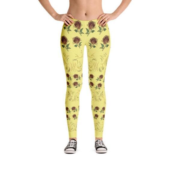 02e320e2c3c29 Princess Leggings Belle Disney Inspired Wearable Sunshine | Etsy