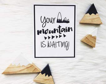 Items Similar To Dr Seuss Your Mountain Is Waiting Poster Modern