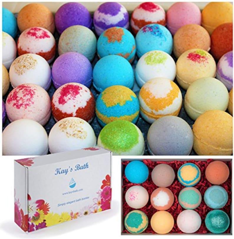 Bath Bombs USA MADE Gift Set 12 w/ Organic Shea & Mango Butter image 1