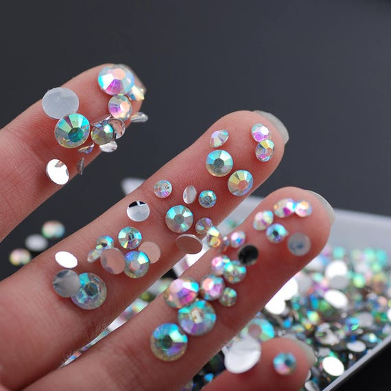 SS6-SS30 Mixed Sizes 2mm-6.5mm Crystal Clear AB 10g Flat Back  51f28416d5c2