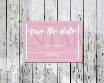 Pink Printable Wedding Save the Date