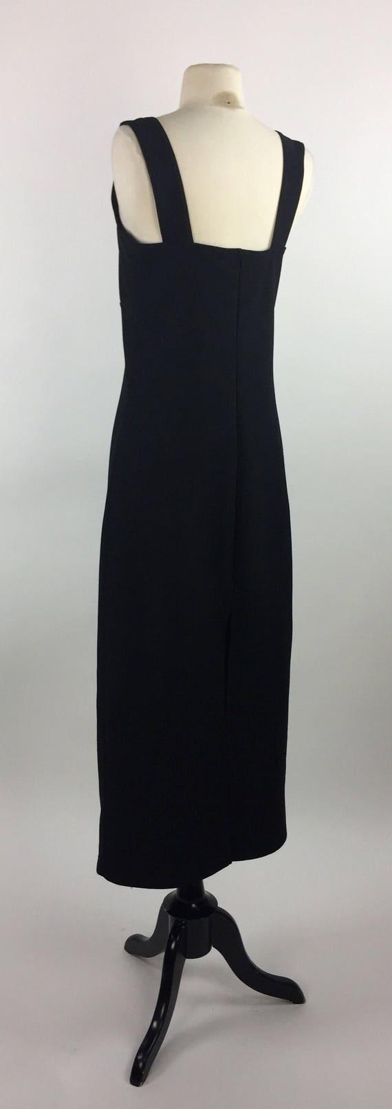 Vintage 90's clubwear black body-con midi length d
