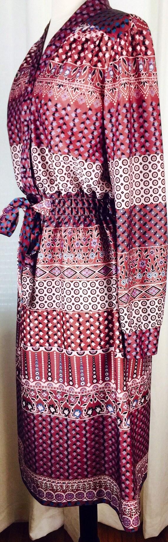 Vintage 70's paisley floral pattern button up bel… - image 4