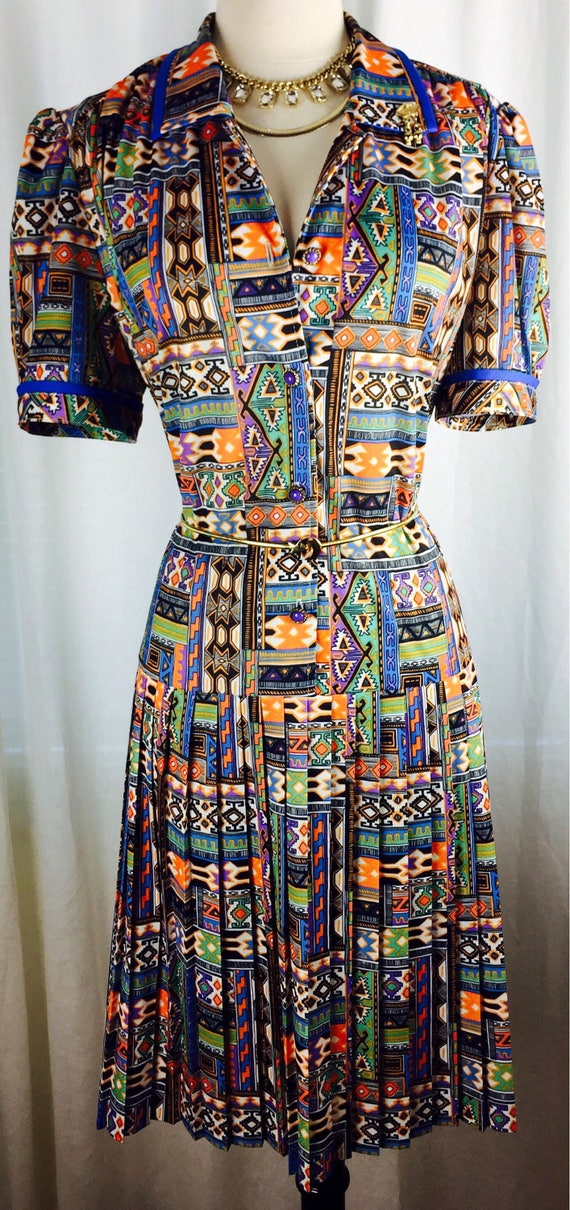 Vintage 70's 80's exotic print French brand southw