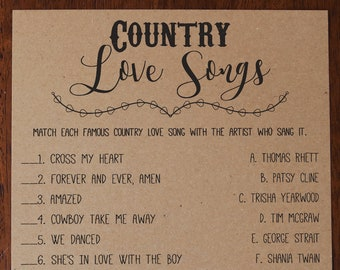 country songs about being in love