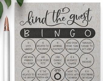 Grey Find the Guest Bingo . Find the Guest Bingo Bridal Shower Game . Bridal Shower Games,Virtual Bridal Shower