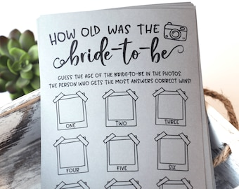 Grey How Old Was The Bride-To-Be ? How Old Was The Bride-To-Be Bridal Shower Game . Bridal Shower Games,Virtual Bridal Shower