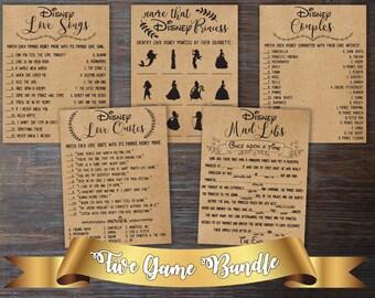 cf23401c2893 Disney Bridal Shower Games Bundle . Games Bundle . Bridal Shower Bundle . Bridal  Shower Games Package . Disney Bridal Shower Activities .