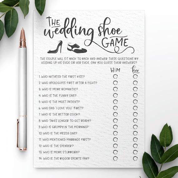 Grey Wedding Shoe Bridal Shower Game Wedding Shoe Game Bridal Shower Game