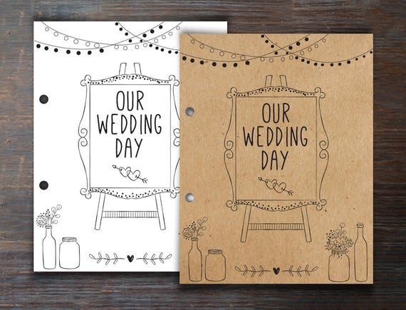 Wedding Activity Book And Coloring For Kids Wedding Kids Etsy