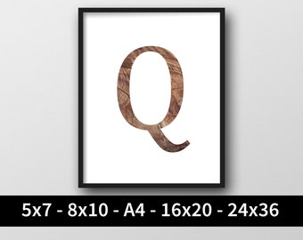photograph regarding Letter Q Printable referred to as Letter q printable Etsy