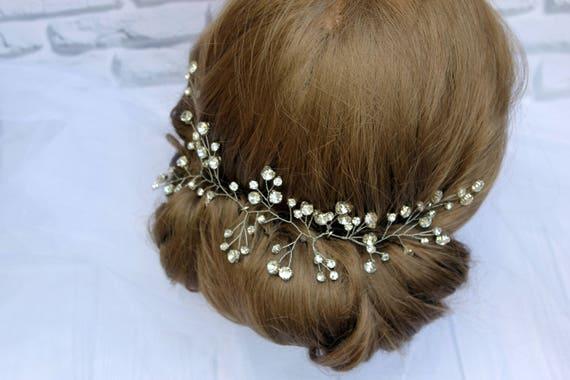 Wedding Hair Vine Bridal Hair Jewelry Wedding Rhinestones Vine  8b64c79c8656