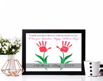 a0139c0682 DIY Mother s Day Gift For Grandma from Kids 2019 - INSTANT Download Mothers  Day Printable - Handprint Art - Watercolor Art