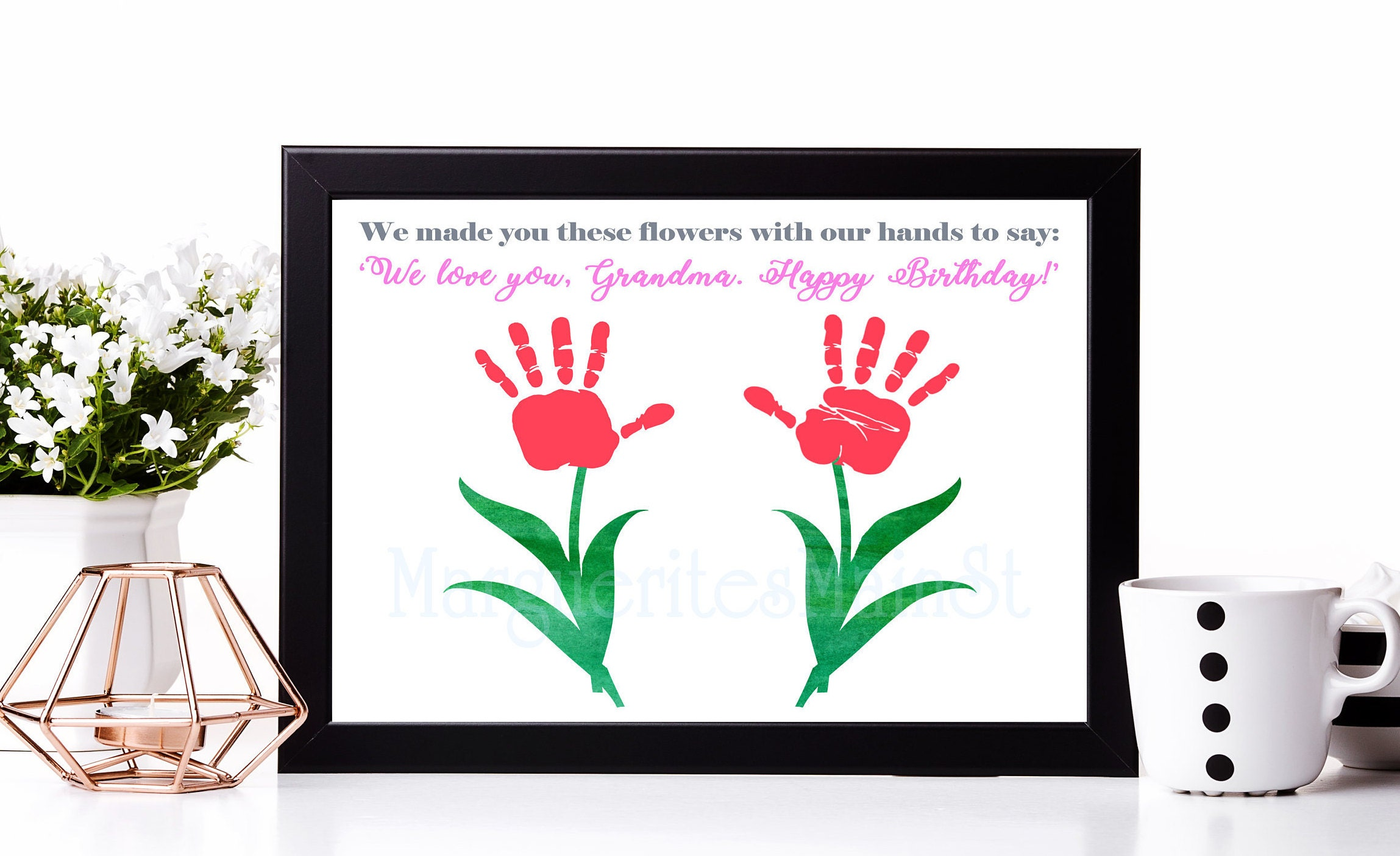 For Grandma Diy Birthday Gift From Kids Instant Download Etsy